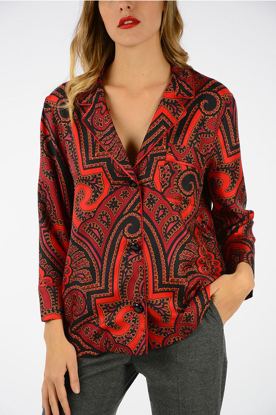Pasley Printed Silk Blouse