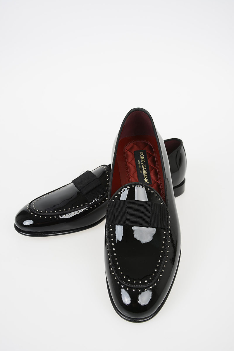 Dolce \u0026 Gabbana Pated Leather Loafers