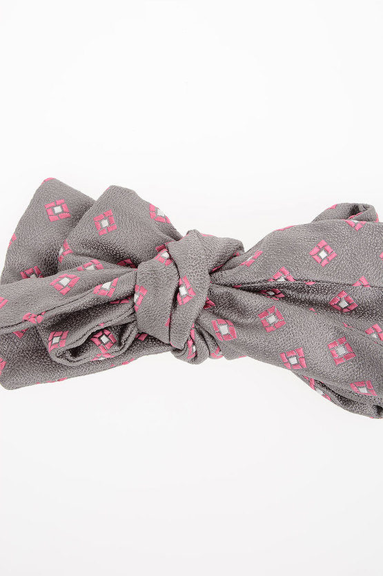 Patterned Silk Bow Tie