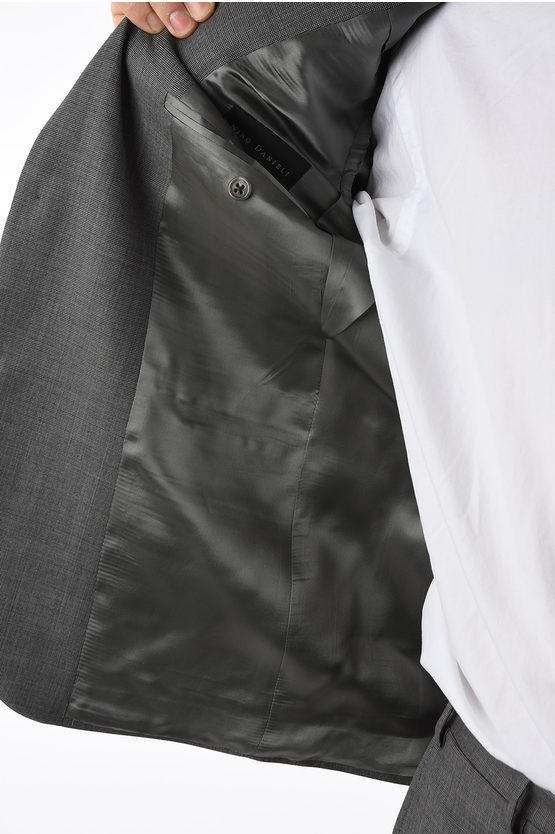 pin check super 160's RIGHT  2-button suit