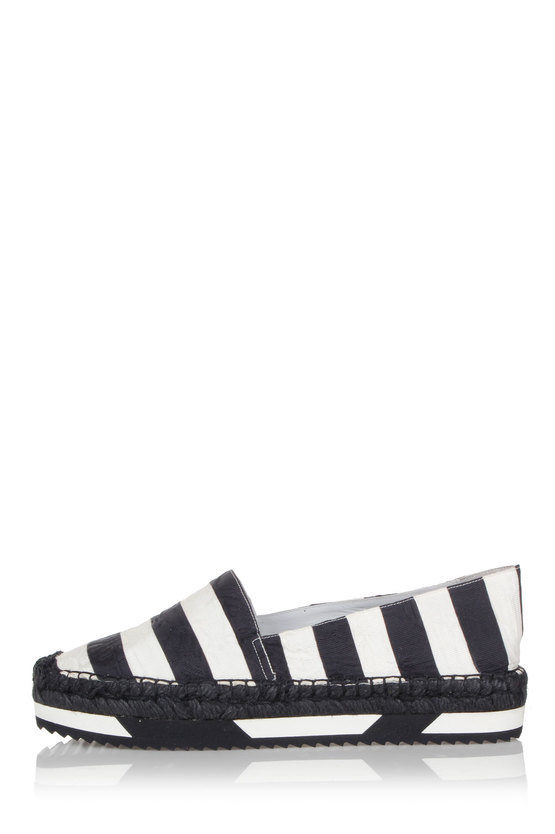 Pinstriped silk and cotton espadrillas shoes