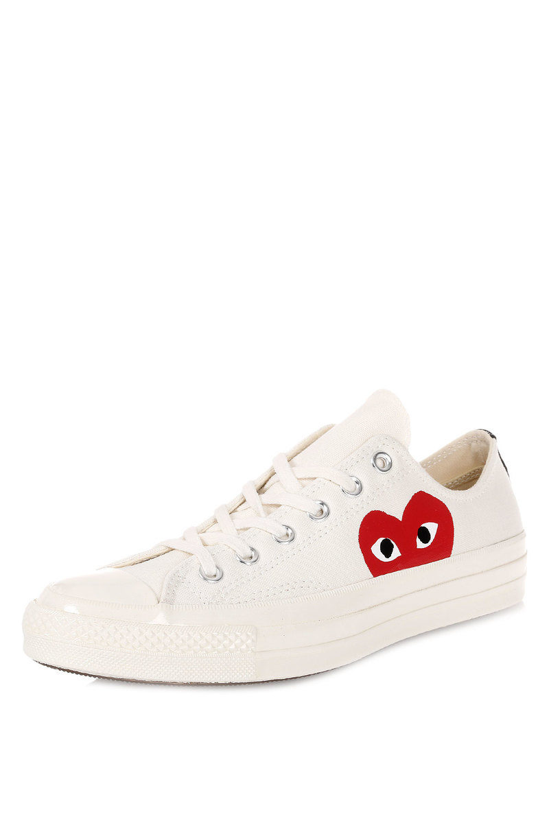 357d877e62a9eb Converse PLAY COMME Des GARCONS Fabric Sneakers men - Glamood Outlet