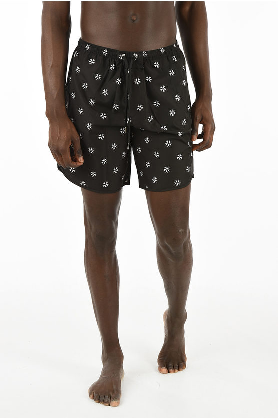 printed boxer swimsuit