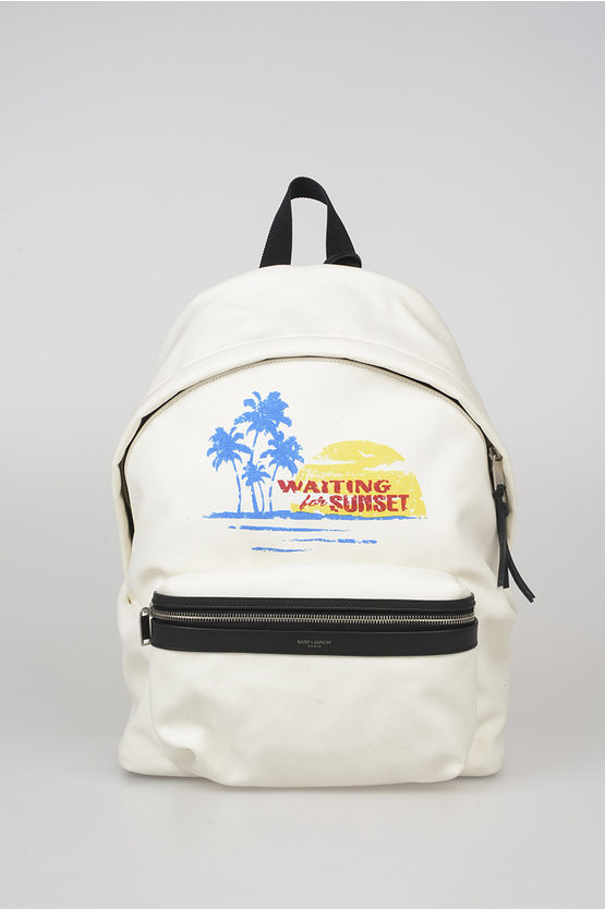 Printed Canvas Backpack