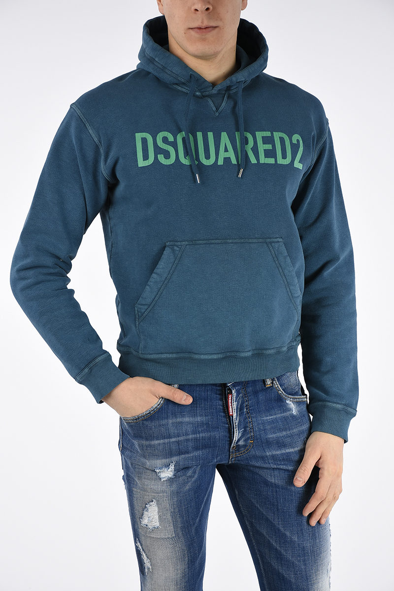 Glamood Men Dan Printed Hoodie Dsquared2 Outlet Fit qAC8X