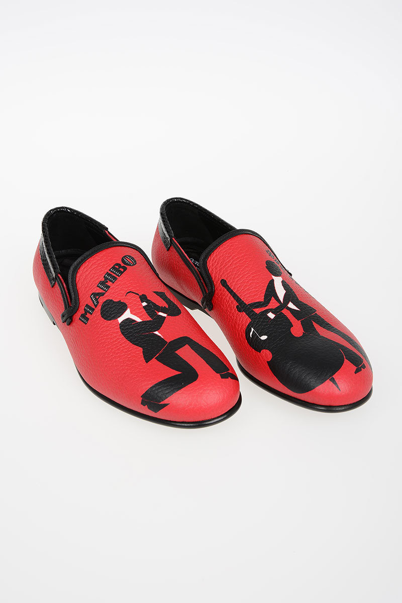 ee990c08dd Dolce   Gabbana Printed Leather AMALFI Loafers men - Glamood Outlet