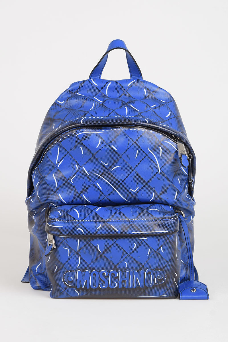 2a819aadd3fc Moschino Printed Leather Backpack women - Glamood Outlet