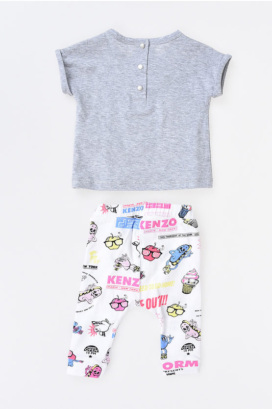 Printed Pants and T-shirt Set