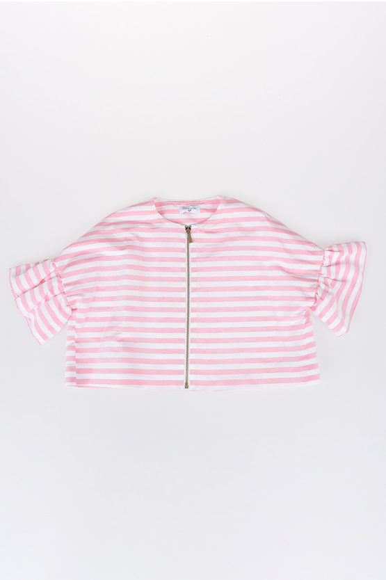 Puff Sleeves Striped Jacket