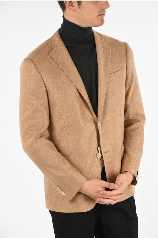 Pure cashmere Patch pocket 6R drop 2 button GATE blazer