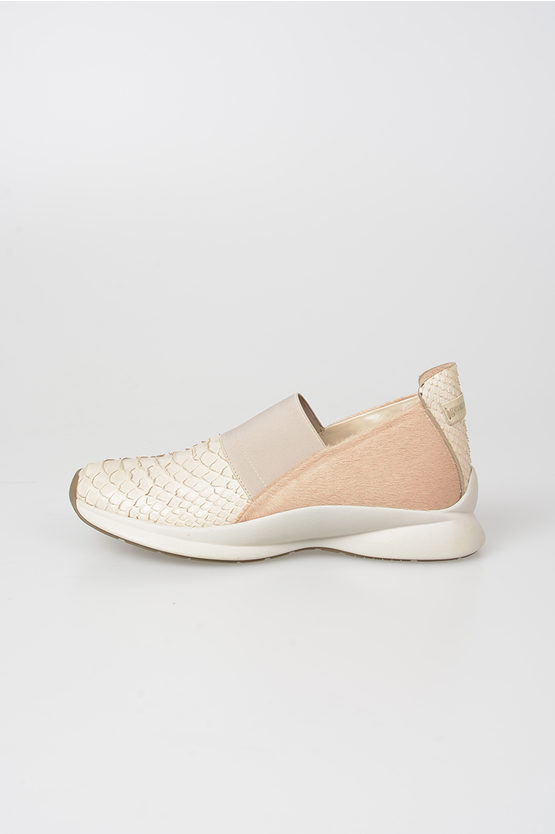 Pyhton Leather Slip on Sneakers