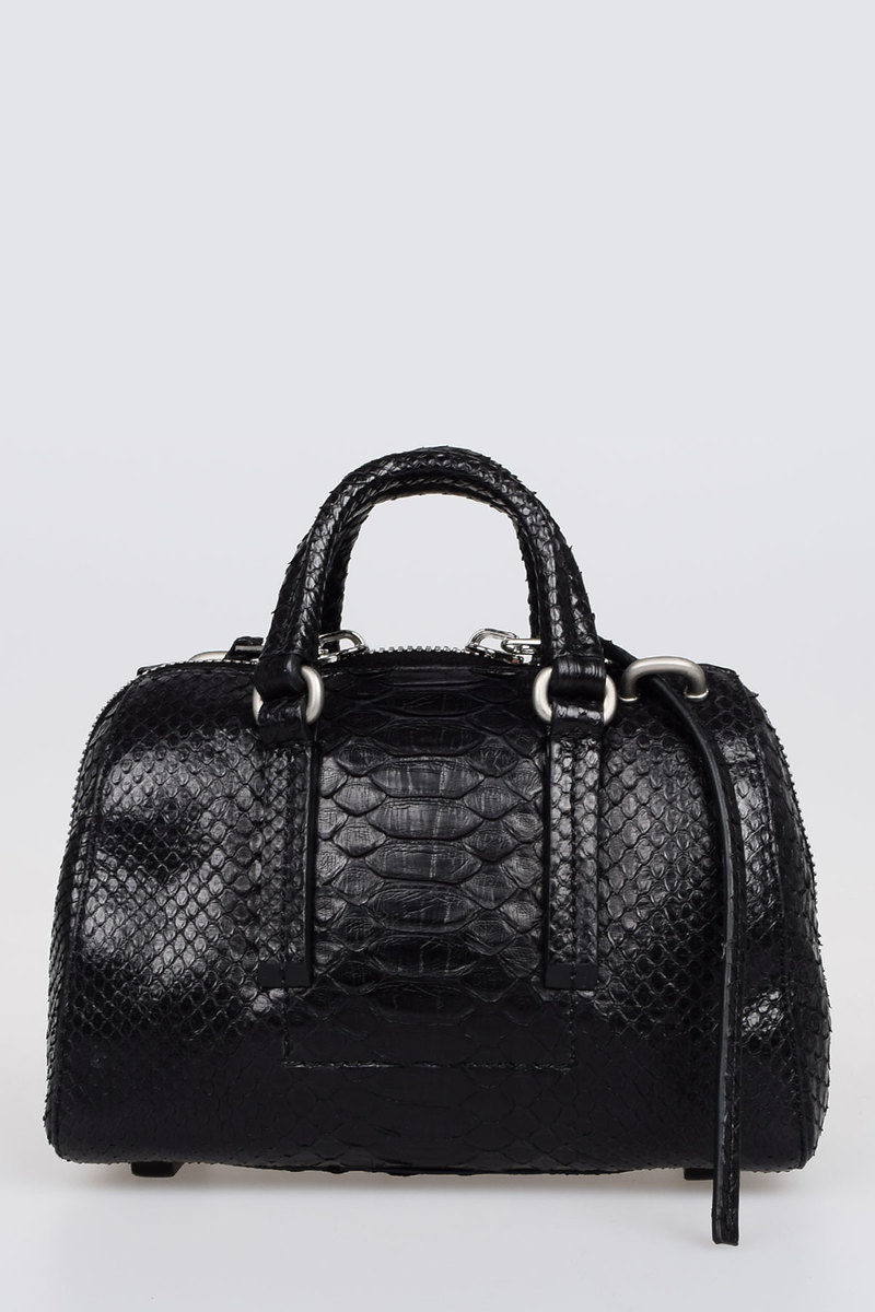 6b05a9f69e8 Rick Owens Python Leather Mini Bowler Bag women - Glamood Outlet