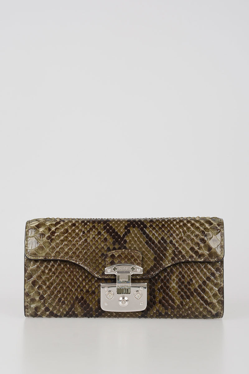 e02df0c40f3 Gucci Python Skin Wallet with Chain women - Glamood Outlet
