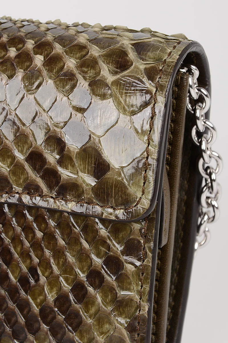7c15b653ff5e Gucci Python Skin Wallet with Chain women - Glamood Outlet