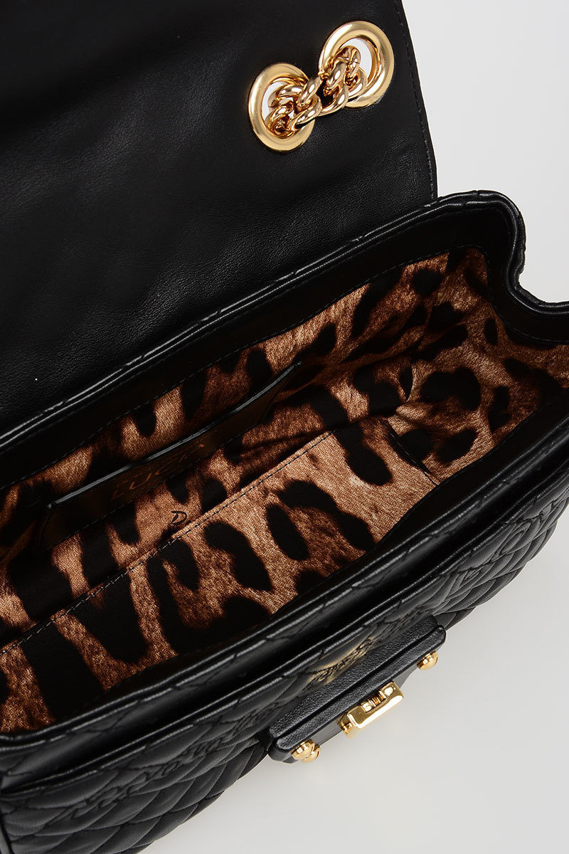 Dolce   Gabbana Quilted Leather LUCIA Shoulder Bag with Studs women ... 0699f6ac94994