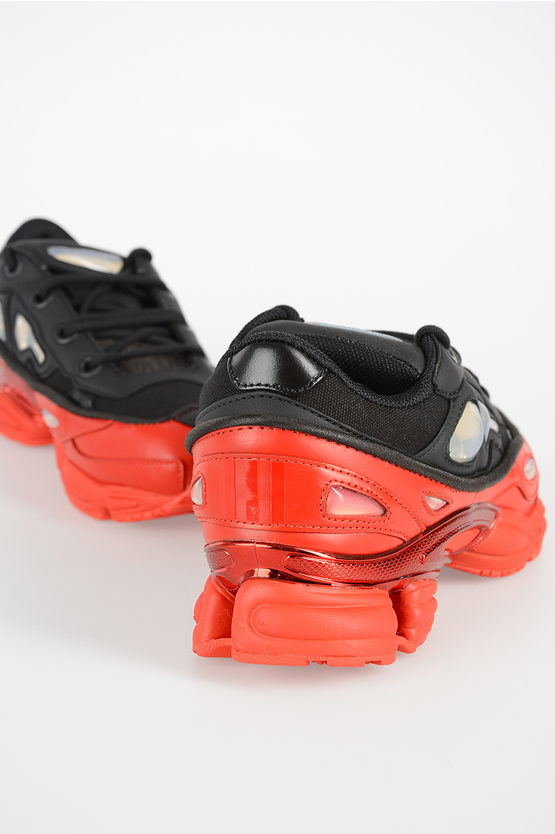 RAF SIMONS Leather and Fabric Sneakers