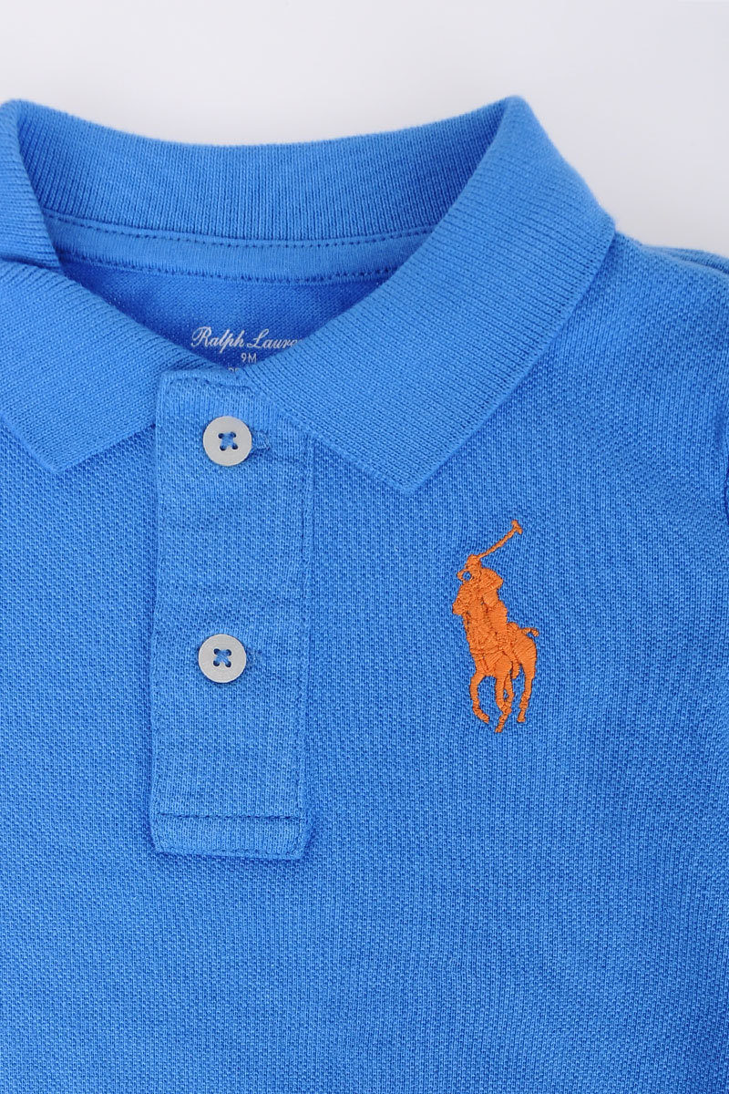outlet store sale 44580 a9ada RALPH LAUREN Piqué Cotton Polo with Bermuda