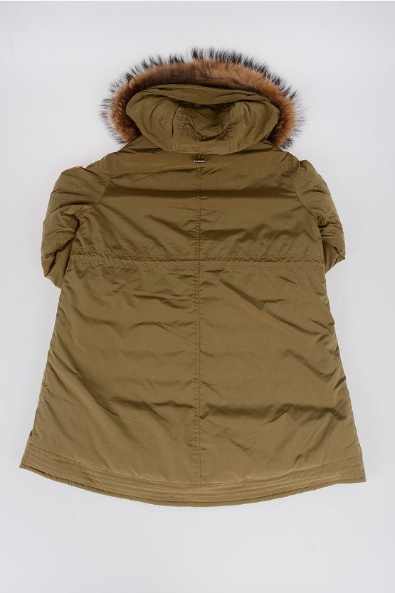 Real Fur Hooded Down Padded Jacket