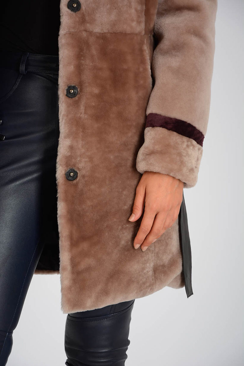 Glamood Outlet With Reversible Women Fur Coat Drome Cw0pgqxRX