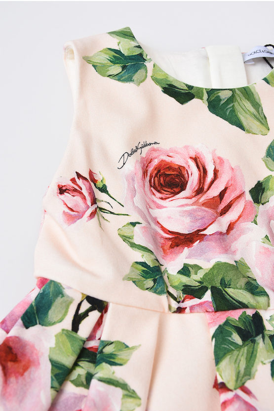 Rose Printed Dress with Coulotte