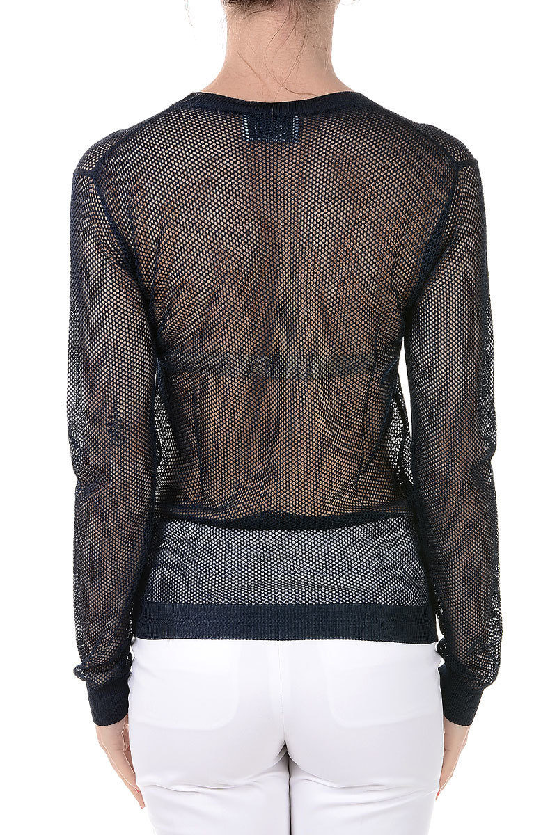 77e6ba3ca774 Prada Round Neck Mesh Fabric Sweater women - Glamood Outlet