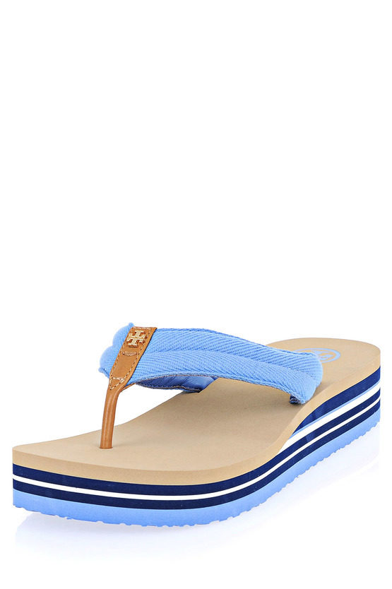 afd44ee27aa967 Tory Burch rubber and Fabric Flip FLop women - Glamood Outlet