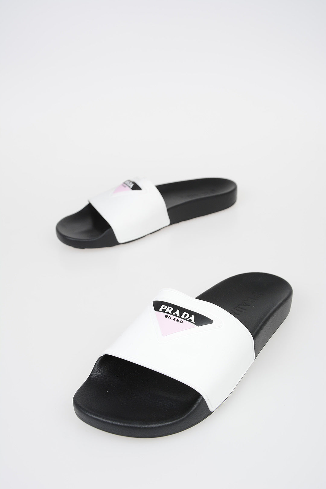 82bc03ec075a Prada Rubber Slides with Logo women - Glamood Outlet
