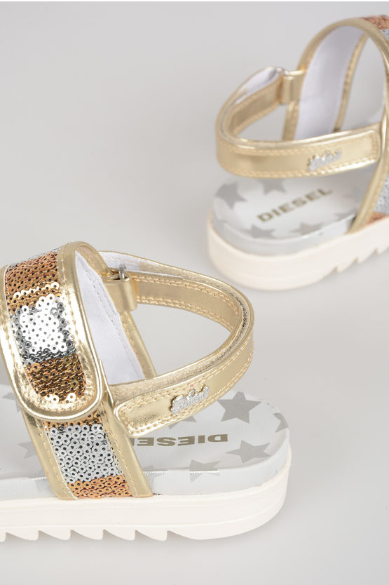 Sequined SA 6 STARS Sandals