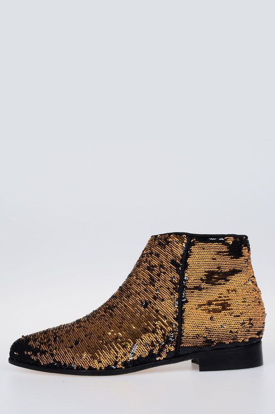 Sequins BLAZING Ankle Boots