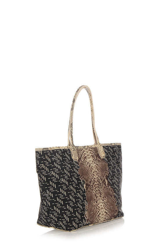 Shopper EASY Bag with Python Skin Detail
