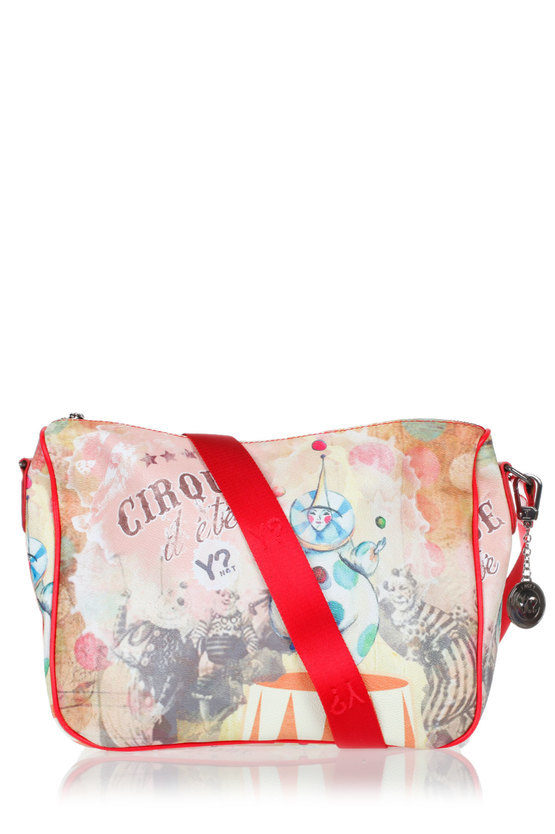 Shoulder Bag Clown Print