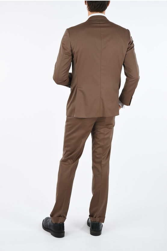 side vents ACADEMY hairline striped 2-button suit