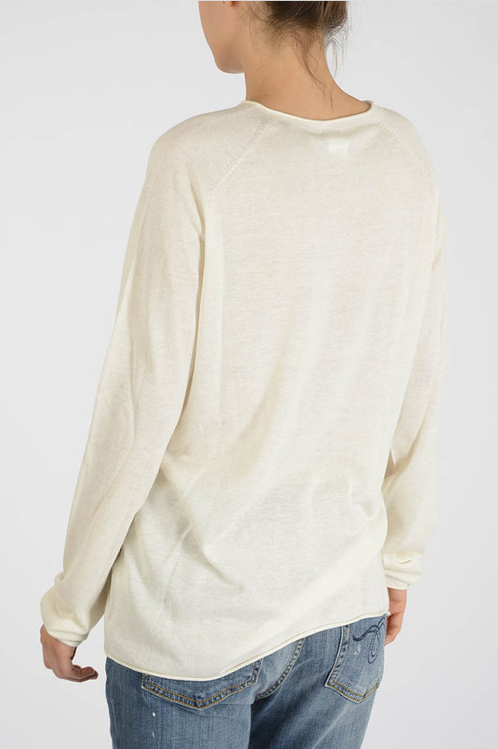Silk and Cashmere Long Sleeves Sweater