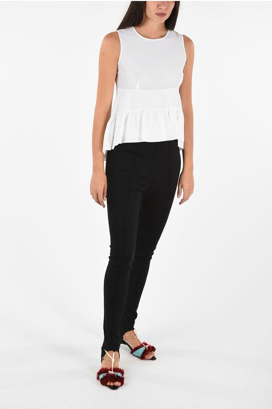 Silk Asymmetrical Top with Zip Closure