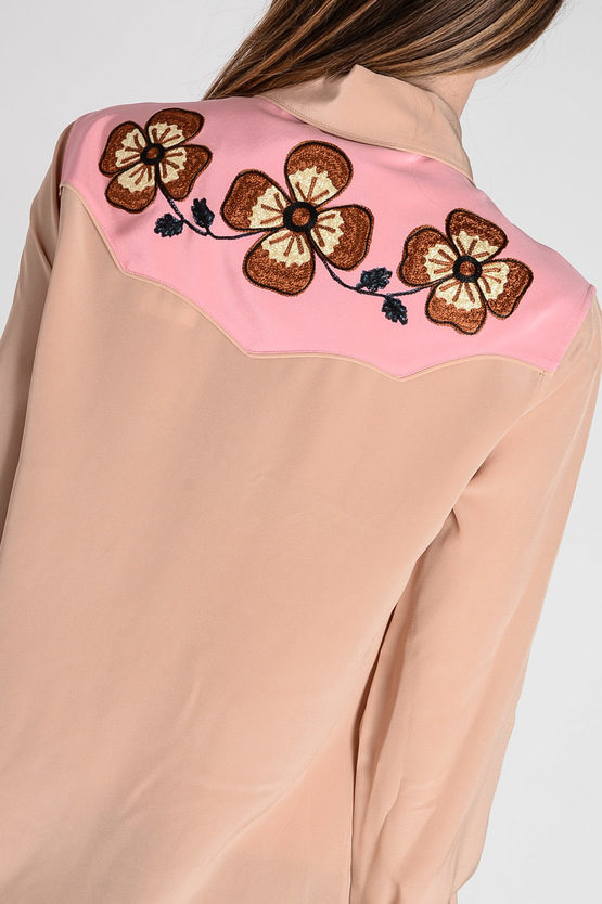 Silk Embroidery blouse