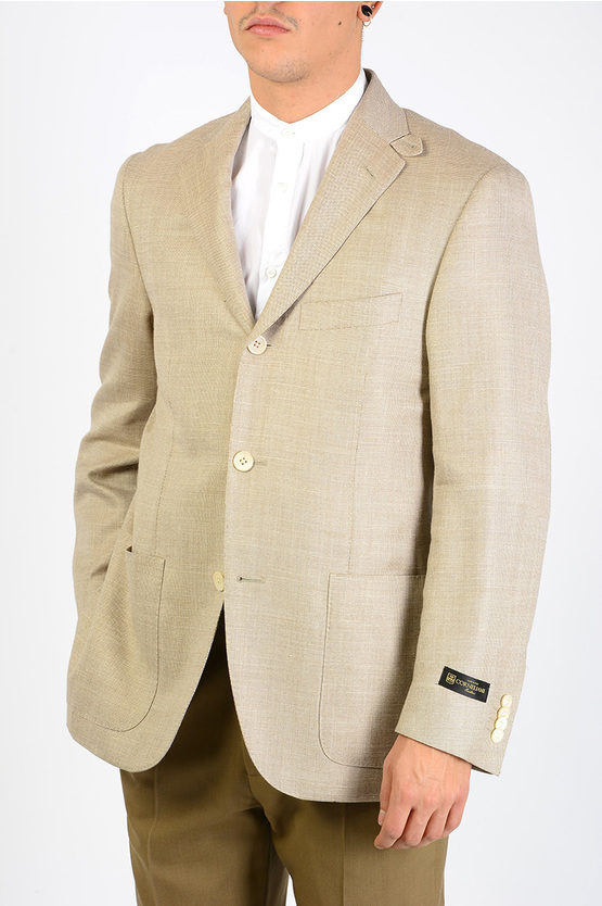 Silk Linen and Virgin Wool Blazer