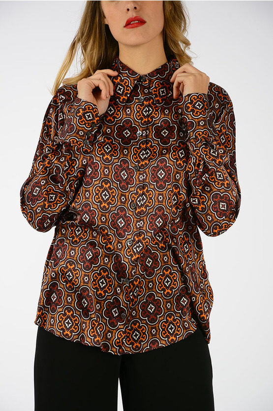 Silk Printed Blouse