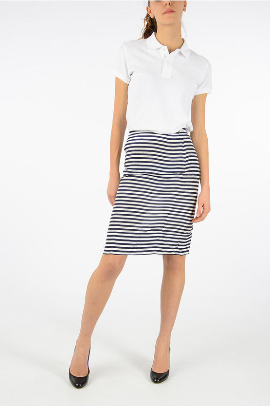 Silk Striped Skirt