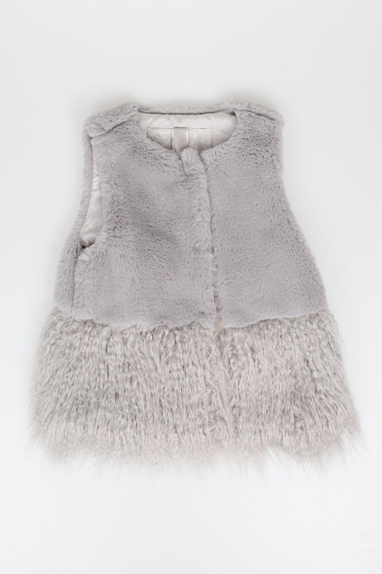 Sleeveless Faux Fur Jacket