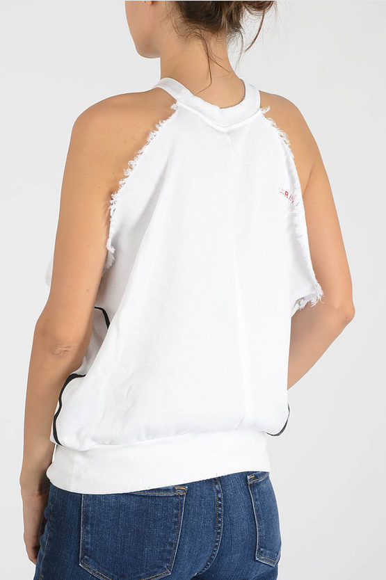 Sleeveless Logo Printed Top