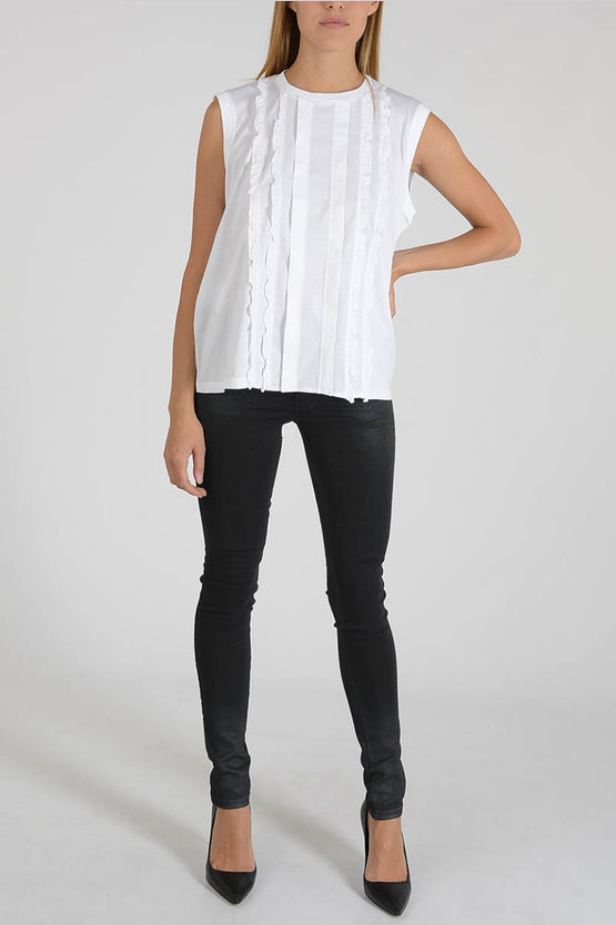 Sleeves Top with Frill