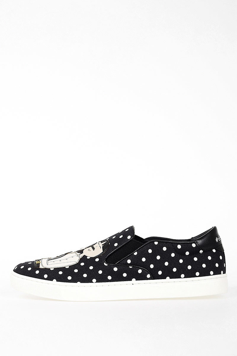 Slip On Pois Fabric Sneakers Spring/summer Dolce & Gabbana zqh5qUH