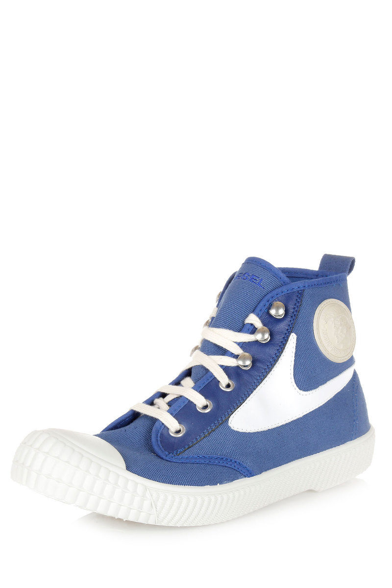 Diesel Sneakers Alte DRAAGS54 in Cotone e Pelle uomo - Glamood Outlet a2c20b59bae
