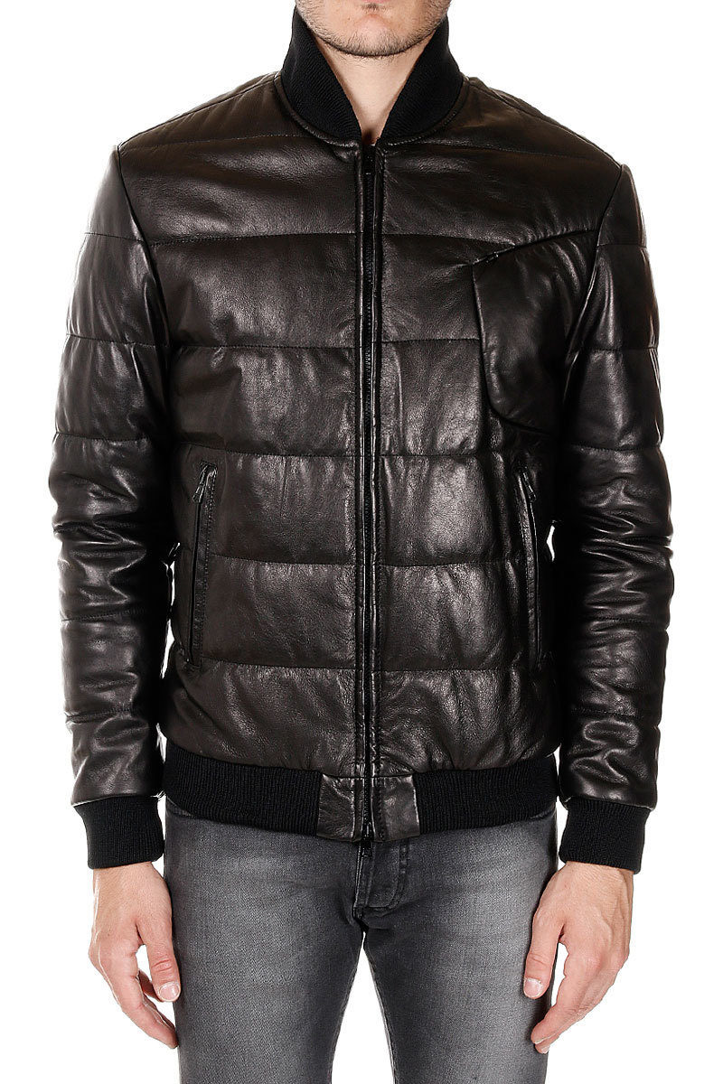 273888527 SNIPER Leather Padded coat