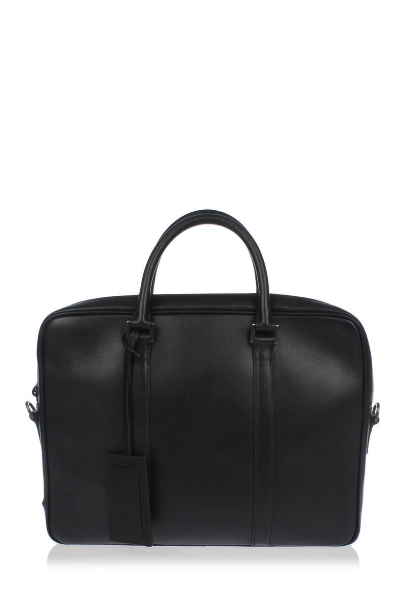 4035c3fdfe1090 Prada Soft Leather Messenger Briefcase Bag men - Glamood Outlet