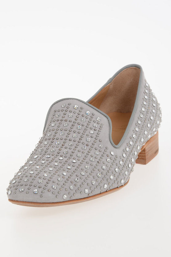 Strass And Studded Leather Loafer