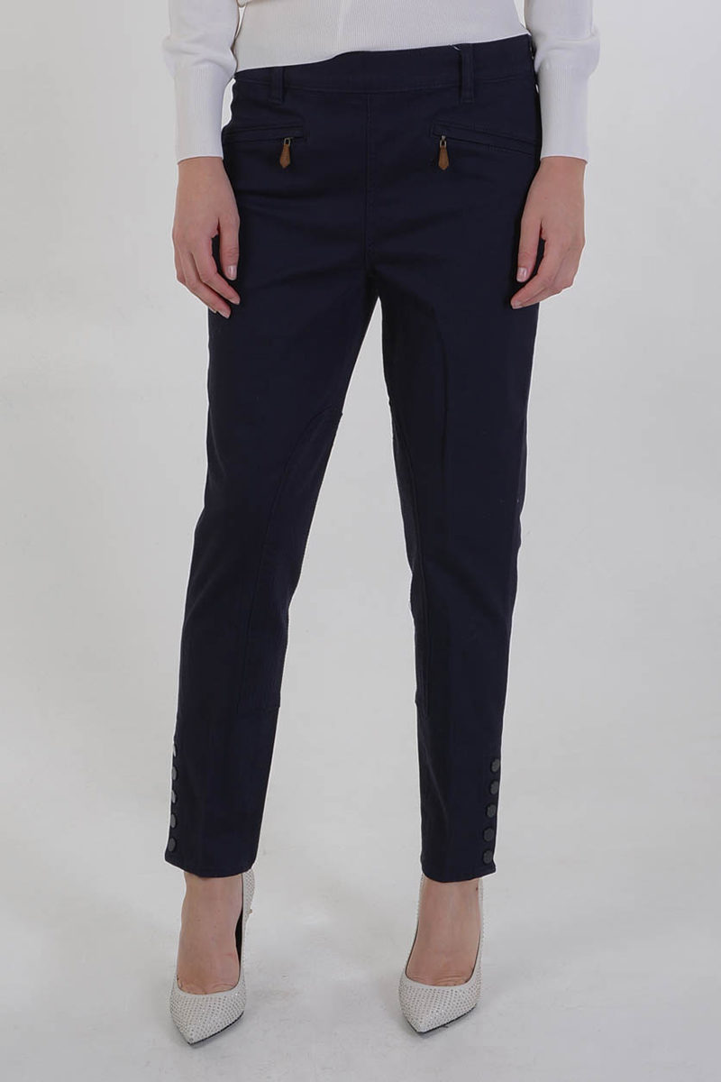 83356000929 Tory Burch Stretch Cotton Pants with Ankle Bottoms women - Glamood ...