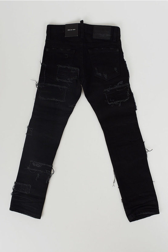 Stretch Denim Embroidered Jeans