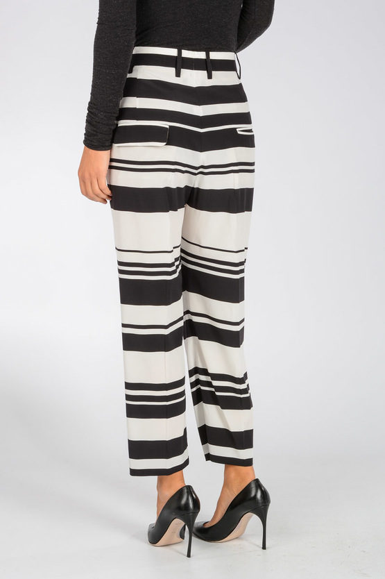 Stretch Silk Cropped Pants