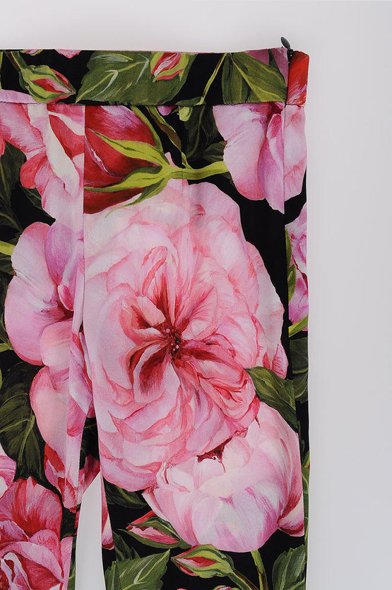 Stretch Silk ROSES Leggings